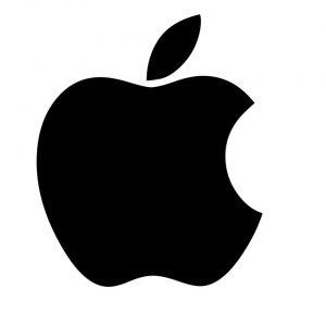 imagen del logo de apple en color negro branding